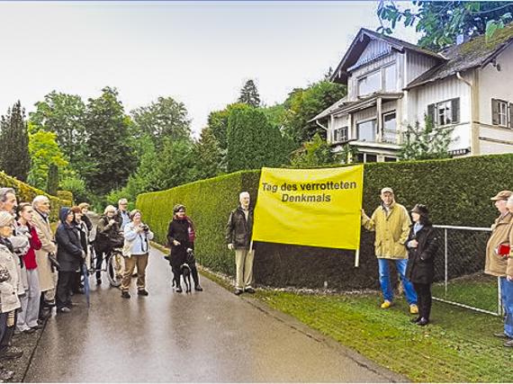 Verrottendes Denkmal: Die Villa Max verfällt immer mehr. Bald werden die Schäden irreparabel sein. © Hans Lippert